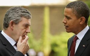 Gordon Brown e Barack Obama